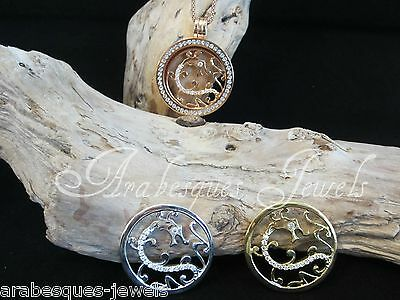 1x LARGE COIN/MONEDA ONLY FOR MI MILANO NECKLACE/CARRIER/GENUINE CRYSTAL/DRAGON