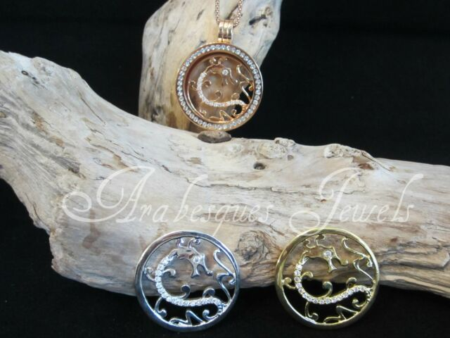 1x SMALL COIN/MONEDA ONLY FOR MI MILANO NECKLACE/CARRIER/GENUINE CRYSTAL/DRAGON