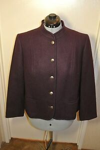 Vintage-Pendleton-Pure-Virgin-Wool-Jacket-Purple-Womens-sz-38-M-Made-in-USA