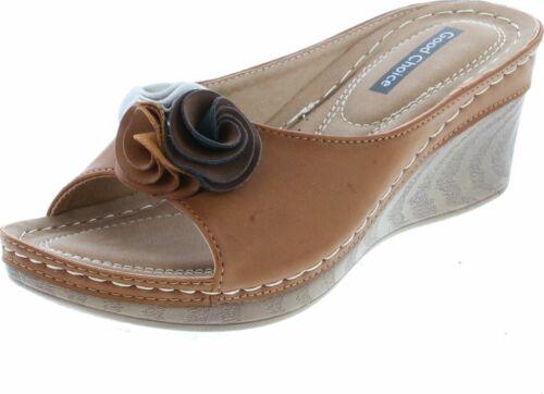Gc Shoes Women/'s Sydney Rosette Slide Wedge Sandals