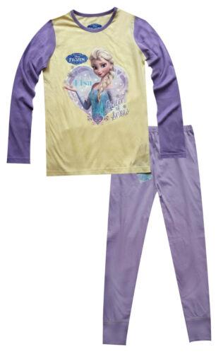 Ragazze Bambine Disney Anna//Elsa Frozen Nero Pigiama Abbigliamento da notte