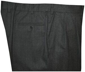 MINT-ERMENEGILDO-ZEGNA-CHARCOAL-GRAY-FLANNEL-DRESS-PANTS-38-39