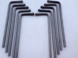 "Exhaust Bent Rod Southern Weld On Rod Hanger 3//8/"" x 10/""  10 Pcs"