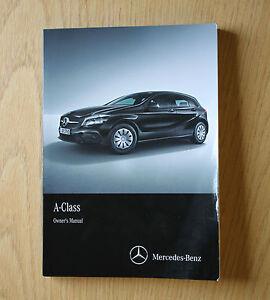 mercedes a class w176 owners manual handbook 2015 2017 book comand rh ebay co uk mercedes audio 20 usb manual mercedes audio 20 aps manuel