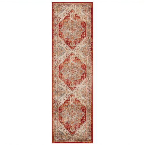 Valeria 1803R Rojo Multi Estilo Tradicional Suave Alfombra varios tamaños y Runner