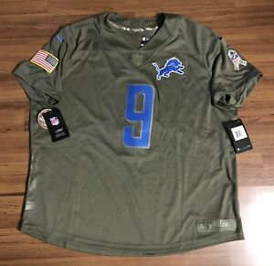 59c6db0d Details about Nike Detroit Lions Stafford Salute To Service Football Jersey  Women's Sz XXL 2XL