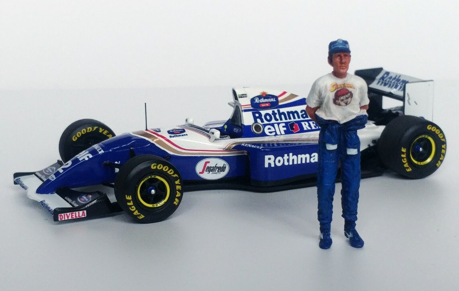 1 43 Senna 1994 redhmans Williams Renault FW16 figurine figure Standing +cap MFH