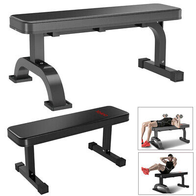 flat weight bench barbell dumbbell chest press lifting sit