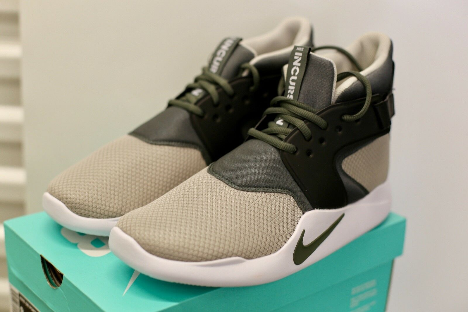 Nike Incursion Mid Pale Grey/River Rock BRAND NEW! Sizes 8.5,9,10.5,11.5