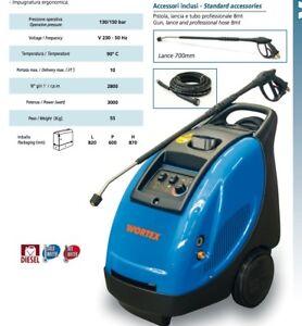 Hochdruckreiniger Diesel WORTEX Vapo 10/130 Wasser Warm 90°C 3000W 2800 Time /