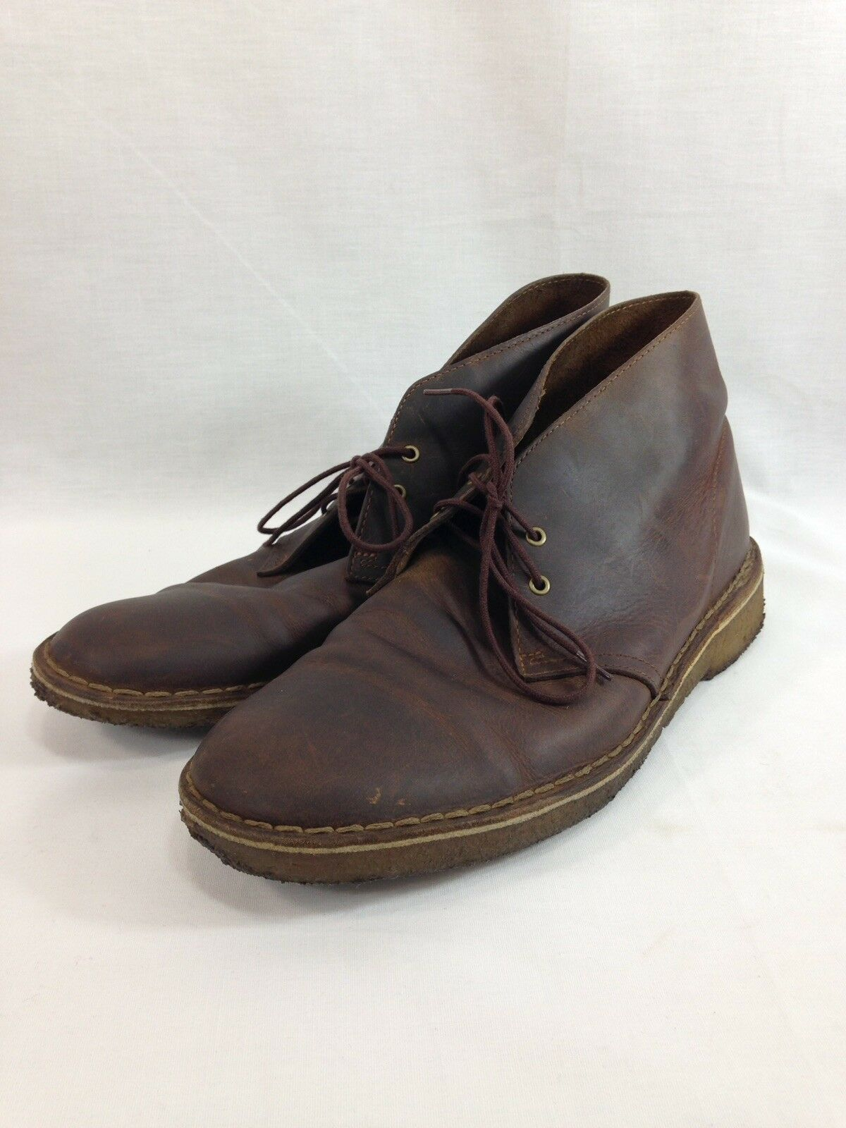 Clarks Originals Desert Boot shoes Mens 10 M Brown Leather Chukka Lace Gum Sole