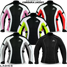Ladies Women Motorcycle Waterproof Cordura Textile Jacket Motorbike Armours