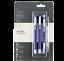 3 x PARKER VECTOR Standard CT Fountain Pen Blue Roller Ball Pen and Ball Pen