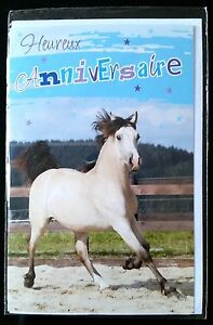 enveloppe anniversaire cheval