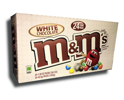 24-Count Box USA M/&M/'S White Chocolate Singles Size Chocolate Candy 1.41 oz