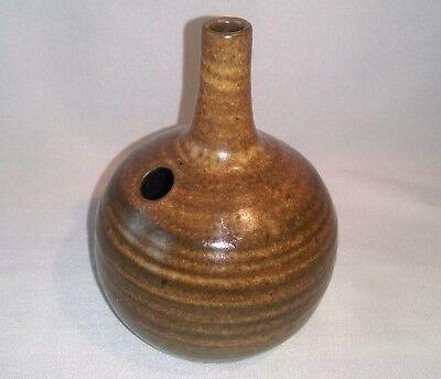 Ancien Vase Boule En Ceramique À Petit Col Volumen Grande