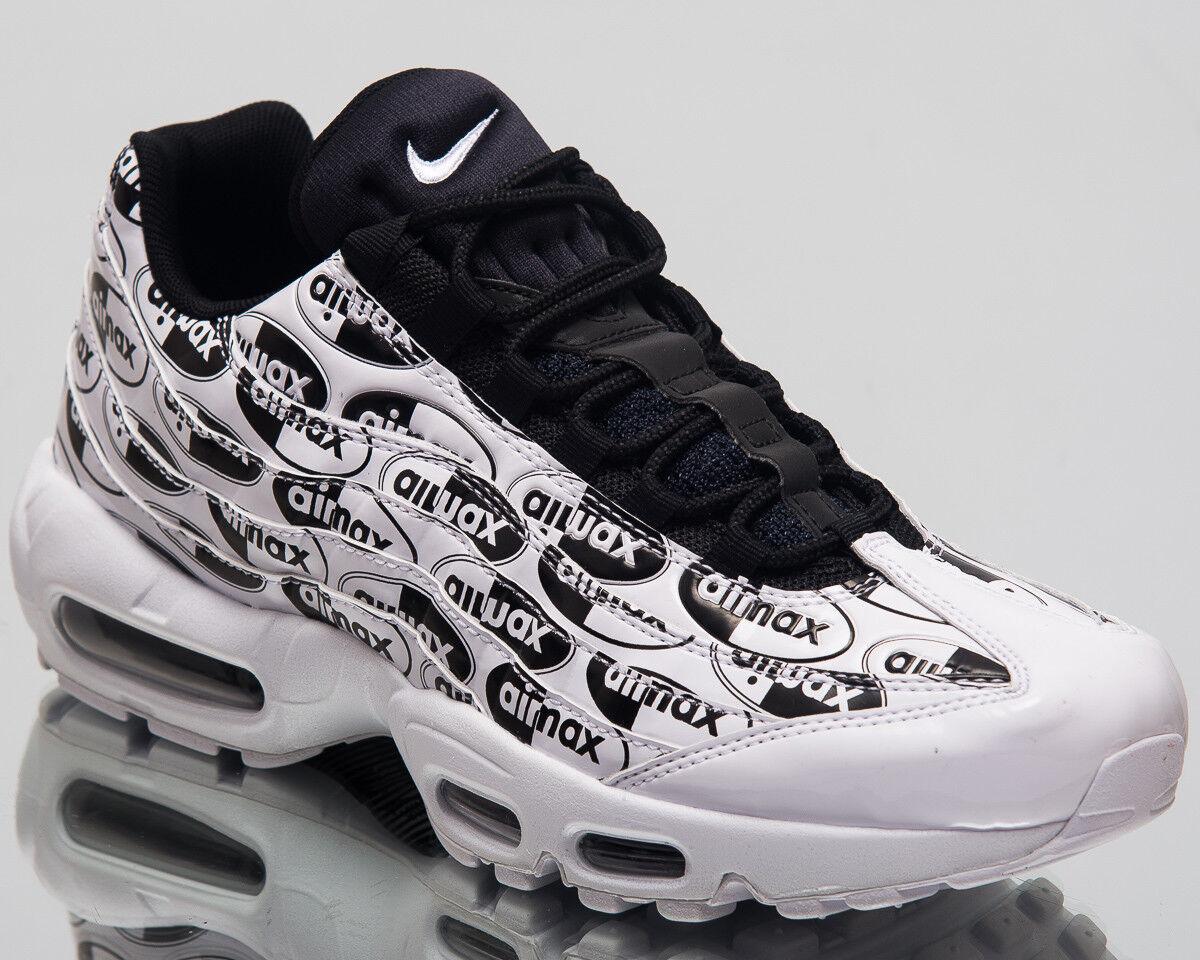 Nike Air Max 95 Premium Lifestyle Chaussures Blanc Noir 2018 Sneakers 538416-103