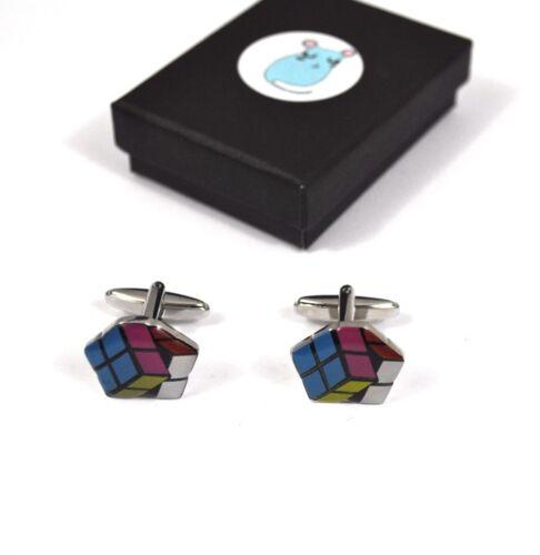 Retro 80s Rubix Cubo Gemelos bnwt//bnib en caja de regalo de Estilo Vintage
