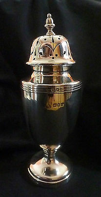 George V Silver Sugar Caster by Wakely & Wheeler Hallmarked London 1924