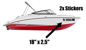 Custom Boat Registration Numbers Set of 2