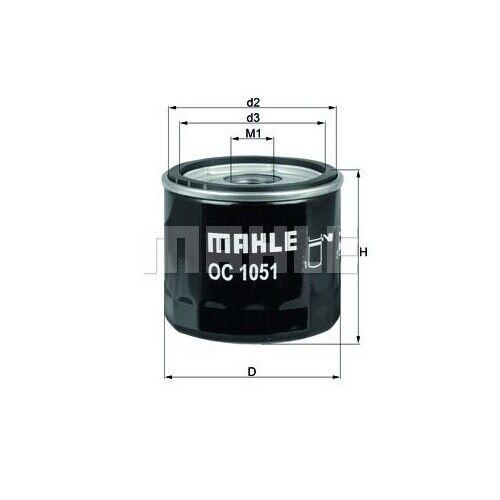 MAHLE Ölfilter OC 1051 Anschraubfilter für FORD MAX FIESTA VOLVO FOCUS MAZDA C30