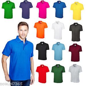 Mens-Premium-Plain-Polo-Shirt-Pique-Size-XS-to-6XL-NEW-UK-STOCK