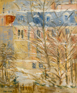 Houses In Snow Berthe Morisot Fine Art Print on Canvas Home Decor Giclee Repro S