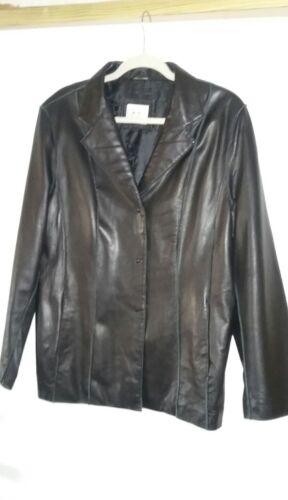 L Manteau souple 14 noir en femme court taille cuir Signature Seymour 16 Jane vvHgr