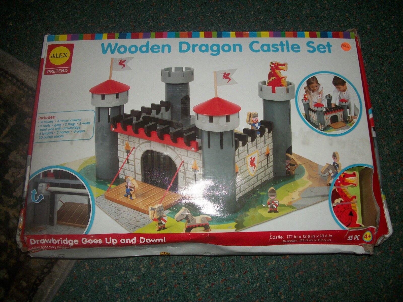 Wooden Castle Set By Alex Pretend Toys Dragon