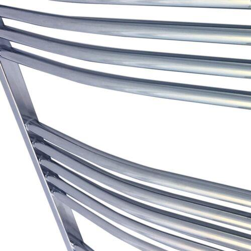 500mm x 1200mm CURVO CROMATO BAGNO binario calorifero radiatore 2130 BTU
