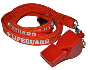 LIFEGUARD-RED-WHITE-WHISTLE-TUBE-LANYARD-WITH-SAFETY-BREAK-LIFE-GUARD-CLASSIC