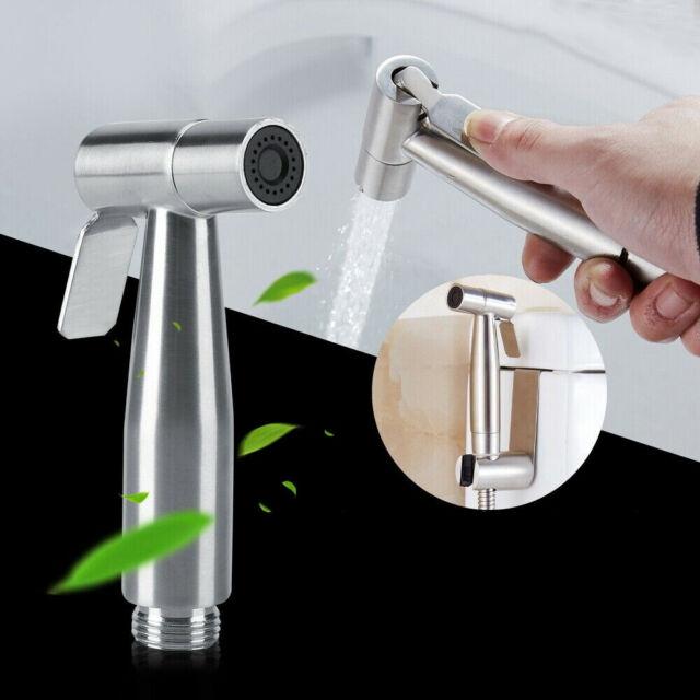 Toilet Bidet Sprayer Stainless Steel Hand Held Shattaf Bathroom Shower Head  ∑