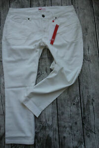 Sheego-Jeans-Pants-7-8-Capri-Pants-Size-40-to-54-White-752-New