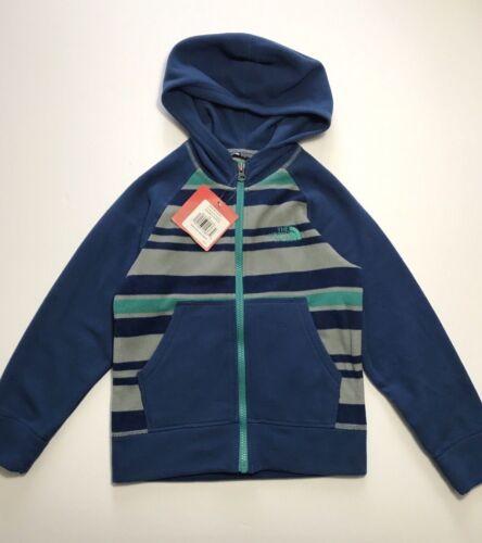 The North Face Boys Glacier Full Zip Fleece Hoodie Jacket Blue Grey XS M L X