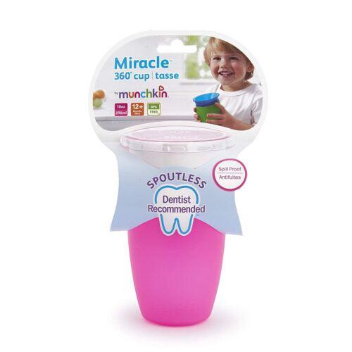 Munchkin Miracle 360 Gobelet 296 ml Rose Baby Feeding BN