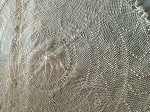 Beautiful-Vintage-Handmade-Tablecloth