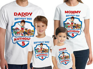 Image Is Loading Paw Patrol Shirt Personalized Birthday T