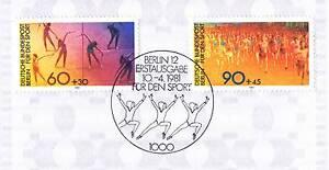 Berlin-1981-Gymnastik-und-Lauf-Sport-Nr-645-646-mit-Ersttags-Sonderstempel-1A