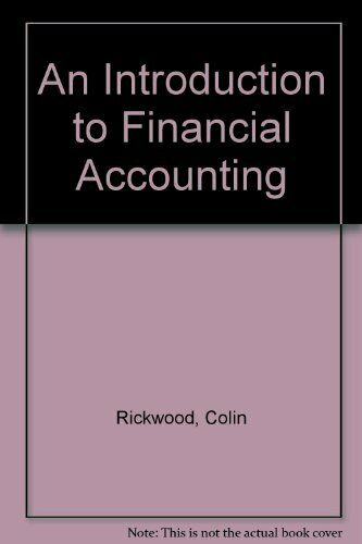 An Introduction to Financial Accounting By Andrew Thomas, Colin Rickwood