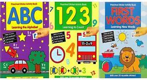Pre Scuola Adesivo Attività Books Presto Imparare Matematica Inglese Spelling