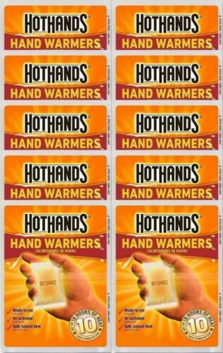 HotHands Air-Activated 10 Hour Hand Warmers 5 Pairs = 10 Warmers