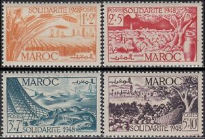 Utile France Colonie 1949 Maroc N°271/274** Oeuvres De Solidarite, French Morocco Mnh