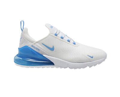 Nike Air Max 270 Golf Shoes White Univ Blue Ck6483 101 Men S Size 12 Ebay