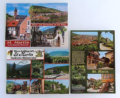 3 X St. Martin A.d. Weinstrasse Postkarten Lot Gebraucht Ak Gelaufen Frankiert Ausreichende Versorgung