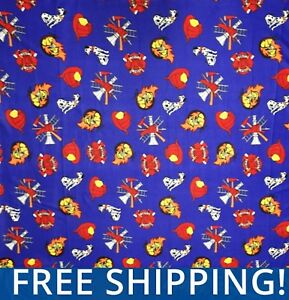 Fire-Fighters-Dalmations-Dogs-Fleece-Fabric-60-034-Wide-Style-1201-Free-Shipping