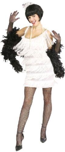 Broadway Babe anni 1920 Flapper Dress Bianco Women/'s Fancy Dress Costume * SVENDITA
