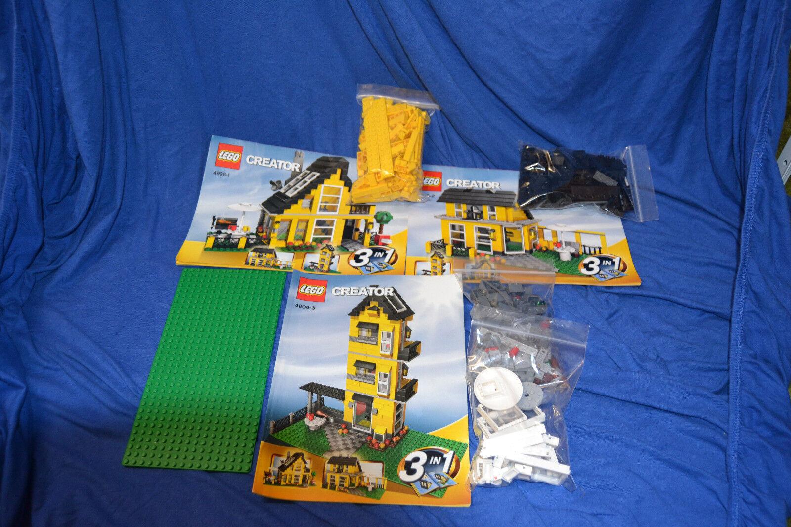 LEGO Creator Beach House 4996 3in1 Set Strandhaus mit mit mit 3 Bauanleitungen 8632cb