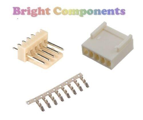 "5x 5-Way 2.54mm 1st CLASS POST 0.1/"" PCB Connector Kit Molex KK Style"