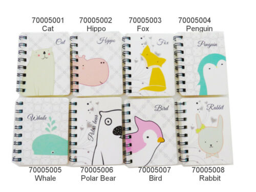 8 designs süße Mini Spiral Heft Notizheft Notizblock kawaii