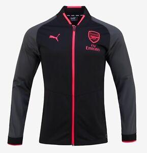 b1e0deeb6d3 Puma Men Arsenal Stadium Training Jacket Black Top Soccer Jackets ...